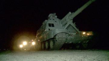 В ходе учений войска выполнили задачи в ночное время