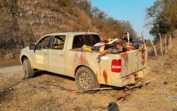 В Мексике обнаружили пикап с 12 телами