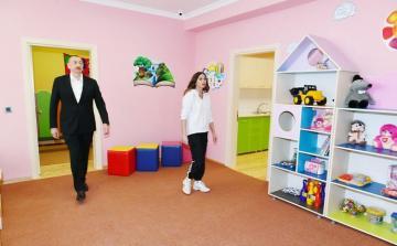 Heydər Əliyev Fondunun təşəbbüsü ilə Şamaxıda inşa olunan körpələr evi-uşaq bağçası istifadəyə verilib