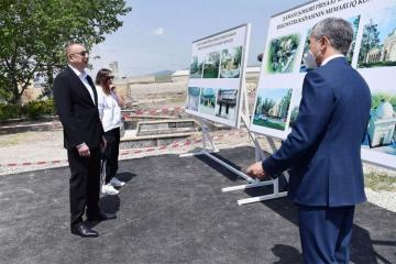 Президент Ильхам Алиев ознакомился с работой, проводимой в рамках реконструкции святилища Пирсаат Баба в Шамахы - [color=red]ОБНОВЛЕНО[/color] - [color=red]YENİLƏNİB[/color]