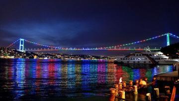 Три моста Стамбула окрасились в цвета флага Азербайджана - [color=red]ФОТО[/color]