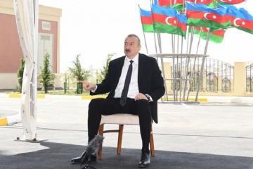 Ильхам Алиев: Этот крупный строительный проект еще раз свидетельствует о том, что социальная ответственность бизнеса растет