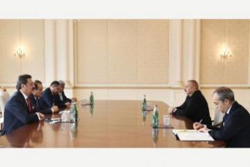 Azerbaijani President Ilham Aliyev receives Baghdad Amreyev, Mustafa Rifati, Adham Ikramov and Marat Sharshekeyev