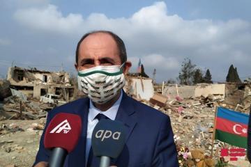 Делегация из Турции посетила пострадавшие в результате обстрела Гянджи территории - [color=red]ФОТО[/color]