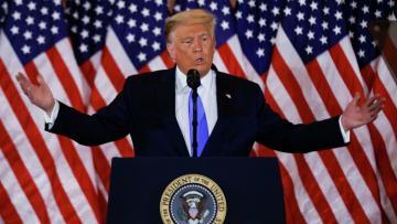 Трамп заявил о победе на выборах по «законным» голосам
