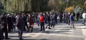 Ermənistanda Parlament binası qarşısında etiraz aksiyası keçirilir