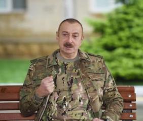 """Prezident İlham Əliyev: """"Dedim Paşinyan getsin harada istəyir imzalasın, qaranlıq bir otaqda, bir anbarda, kameralardan uzaq bir yerdə imzalasın"""""""
