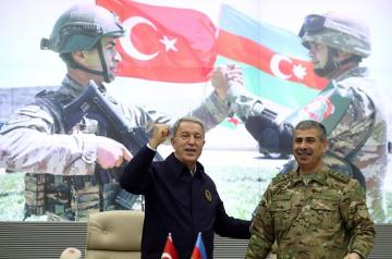 "Turkey's Defense Minister: ""We will continue to support our Azerbaijani brothers in their righteous fight"""