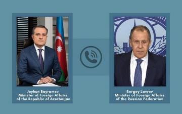Azərbaycan və Rusiya XİN rəhbərlərinin arasında telefon danışığı olub