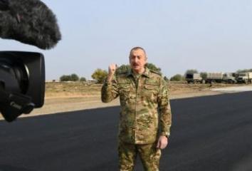 Azerbaijan lays a road to Shusha