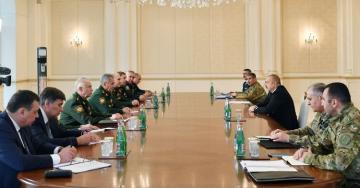 Президент Ильхам Алиев принял министра обороны России - [color=red]ОБНОВЛЕНО[/color]