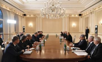 Prezident İlham Əliyev Rusiyanın xarici işlər naziri Sergey Lavrovu qəbul edib