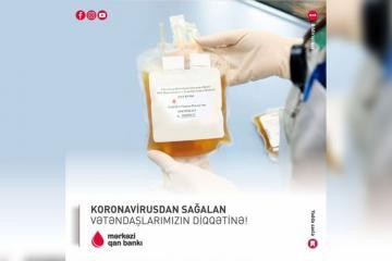 Mərkəzi Qan Bankı koronavirusdan sağalanlara müraciət edib