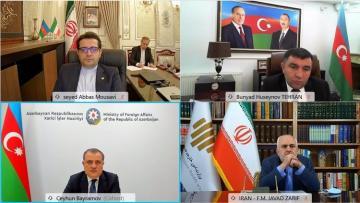 Состоялась встреча глав МИД Азербайджана и Ирана в формате видеоконференции