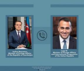 Telephone conversation held between Azerbaijani FM and his Italian counterpart