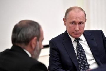Пашинян заявил, что дважды за час переговорил по телефону с Путиным