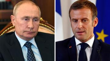 СМИ: В Москве возмущены утечкой беседы Путина и Макрона