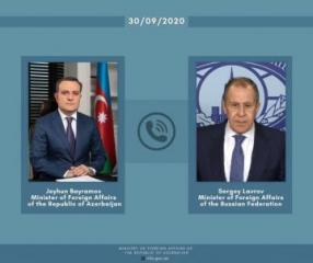 Состоялась телефонная беседа между главами МИД Азербайджана и России