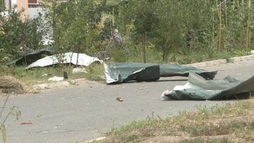 Выпущенный армянами снаряд попал в поселок вынужденных переселенцев в Агдаме