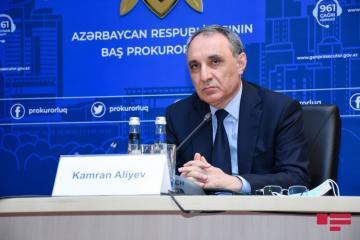 Baş prokuror Kamran Əliyev  beynəlxalq təşkilatlara müraciət edib