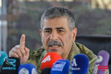 "Defense Minister: ""Delivering fire on the territory of Azerbaijan from the territory of Armenia is clearly provocative and expands the zone of hostilities"""