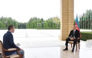 "President Ilham Aliyev was interviewed by Russian ""Perviy Kanal"" TV"