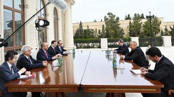 President Ilham Aliyev received delegation led by Turkish Foreign Minister - [color=red]UPDATED[/color]