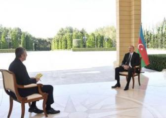 Ильхам Алиев: Чтобы остановить нас проигрывающая бой Армения совершает военные преступления против гражданских лиц