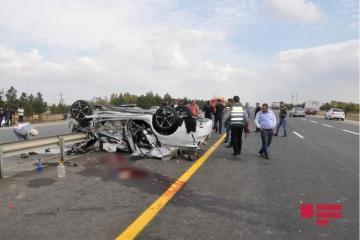 В ДТП в Шеки погибли два члена одной семьи