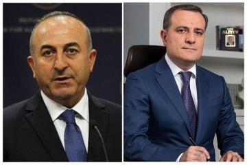 Telephone conversation held between Turkish, Azerbaijani FMs