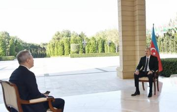 President Ilham Aliyev was interviewed by Russian RBC TV channel
