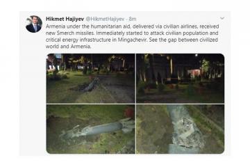 """Prezidentin köməkçisi: """"Humanitar yardım adı altında Ermənistan yeni """"Smerç"""" raketləri alıb"""""""