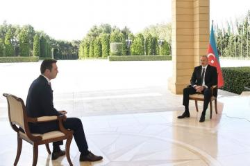 President Ilham Aliyev was interviewed by Turkish Haber Global