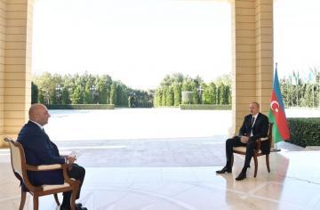 Президент Ильхам Алиев дал интервью турецкому телеканалу Haber Türk