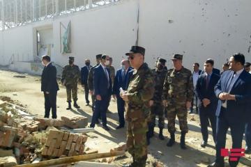 Кямаледдин Гейдаров осмотрел гражданские объекты, разрушенные в результате армянской провокации в Гяндже