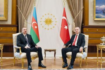 """Prezident İlham Əliyev: """"Rəcəb Tayyib Ərdoğan dünya lideridir"""""""