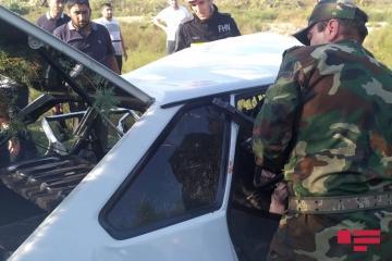 Ağdaşda iki avtomobil toqquşub, 3 nəfər ölüb, 4 nəfər xəsarət alıb - [color=red]FOTO[/color]