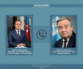 Состоялся телефонный разговор между главой МИД Азербайджана и генсеком ООН
