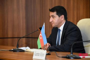 "Hikmat Hajiyev: ""In blatant violation of humanitarian truce armed forces of Armenia used their fighter aircraft to bomb the positions of Azerbaijan's armed forces"""