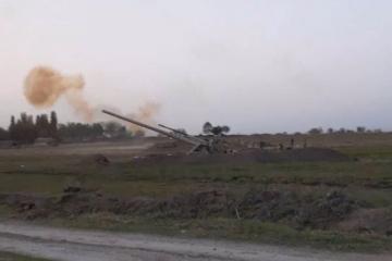 Gecə və gündüz artilleriya atışları - [color=red]VİDEO[/color]