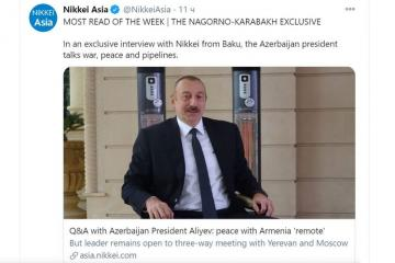 Interview of President Ilham Aliyev becomes most read article