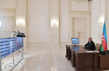 President Ilham Aliyev was interviewed by Italian Rai-1 TV channel