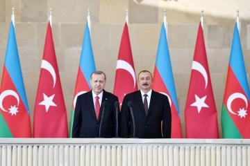 """Prezident İlham Əliyev: """"Azərbaycan da öz növbəsində bütün məsələlərdə qardaş Türkiyənin yanındadır"""""""