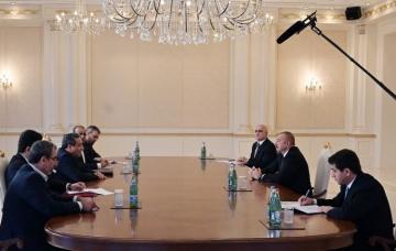 Ильхам Алиев принял делегацию во главе со специальным представителем президента Ирана