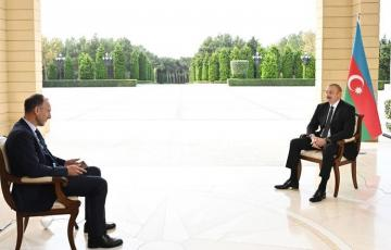 President Ilham Aliyev was interviewed by German ARD TV channel