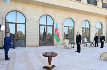 President Ilham Aliyev received credentials of incoming Greek ambassador