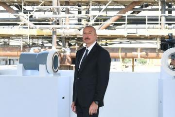 Президент Ильхам Алиев принял участие в церемонии закладки фундамента морских операций на месторождении «Абшерон»