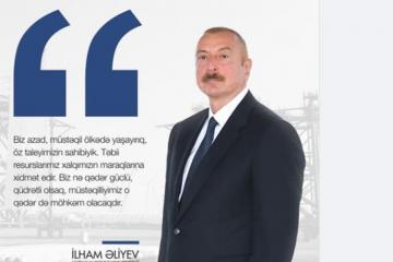 """Prezident İlham Əliyev: """"Təbii resurslarımız xalqımızın maraqlarına xidmət edir"""""""