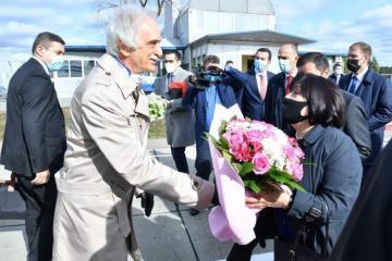 Сахиба Гафарова прибыла с визитом в Россию