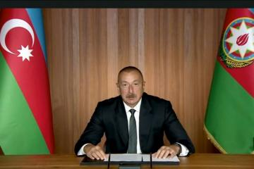 President of Azerbaijan Ilham Aliyev made a speech at the high-level meeting to mark 75th anniversary of United Nations in a video format
